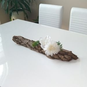 Drift wood succulent and flower holder.